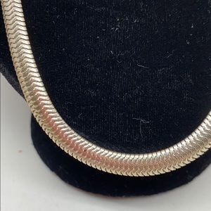 Jewelry - Sterling silver flexible snake chain.